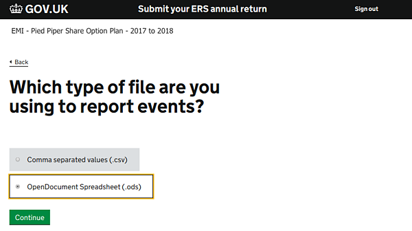 ERS Annual Return Filing to HMRC