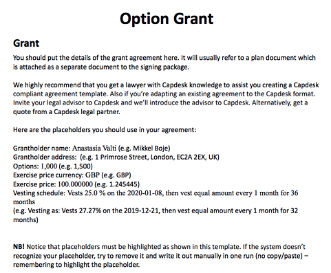 grant issuance