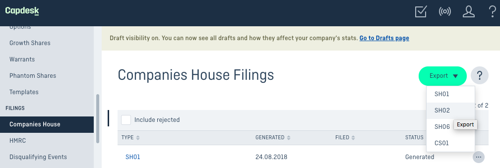 How to fill out an SH02 form for Companies House