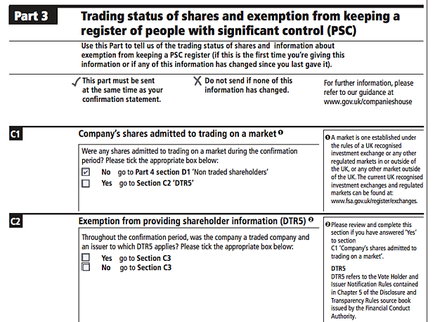 trading status and DTR5